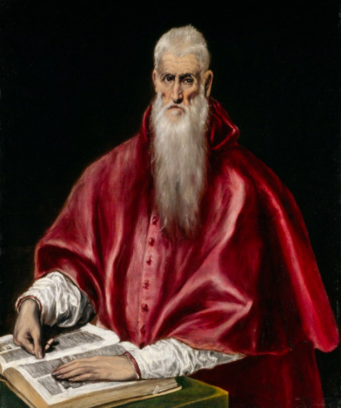 "El Greco (Doménikos Theotokópoulos)    Saint Jerome as a Scholar , ca. 1610   ""El Greco in New York"" at The Metropolitan Museum of Art, New York  (2014-2015)"
