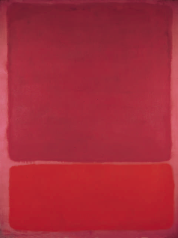 Mark Rothko    Untitled (Red, Orange) , 1968   Fondation Beyeler