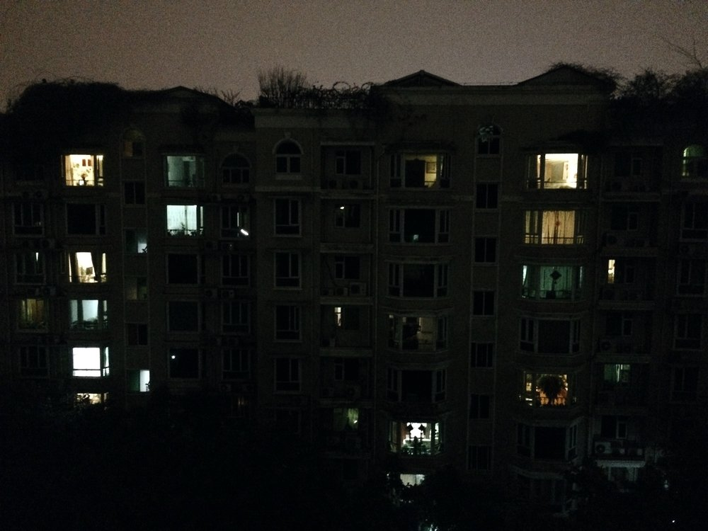 View of the apartments across from us.