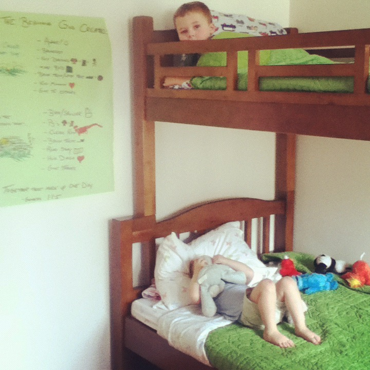 Judah and Eden's first bedroom.