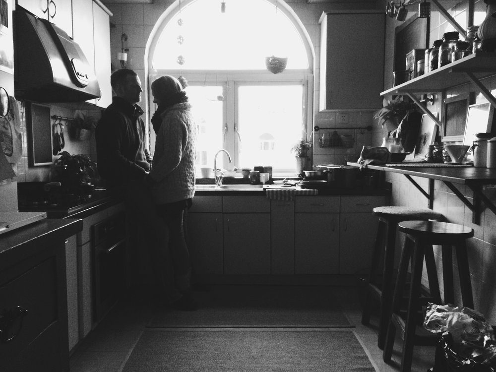 Our kitchen has changed a bit since this pic, but I still love it. And it's still our kitchen.
