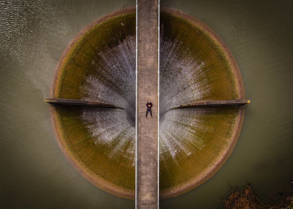 Dam near perfect ... second prize in the same category was of the Huia Dam in Auckland, New Zealand. Hong Kong-based SkyPixel was launched in 2014. Photograph: Brendon Dixon/SkyPixel