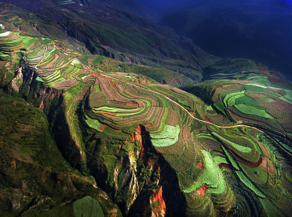 On the terraces … the competition – the first run by SkyPixel – attracted 27,000 entries, including this one of a rice terrace in China, which was one of our favourites.  Photograph: SkyPixel