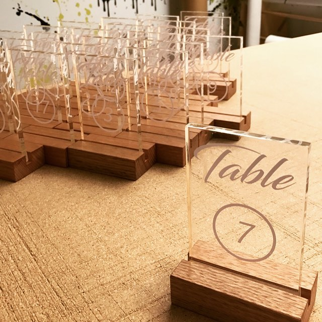 Wedding table numbers, seating plans and welcome boards. #crsigns #theshire #digitalprint #acrylicsigns #signs