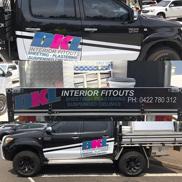 Partial wrap and tail gate this morning. #crsigns #digitalprint #signs #signshop #arlon #sutherlandshire