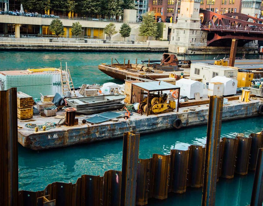 Construction for Chicago Riverwalk
