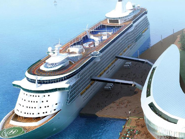 Artist's Impression:  Ocean-side Gold Coast Cruise Ship Terminal