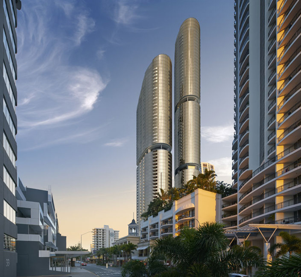 - GOLD TWIN TOWER WANDERLUST DEVELOPMENT PROPOSED FOR SURFERS