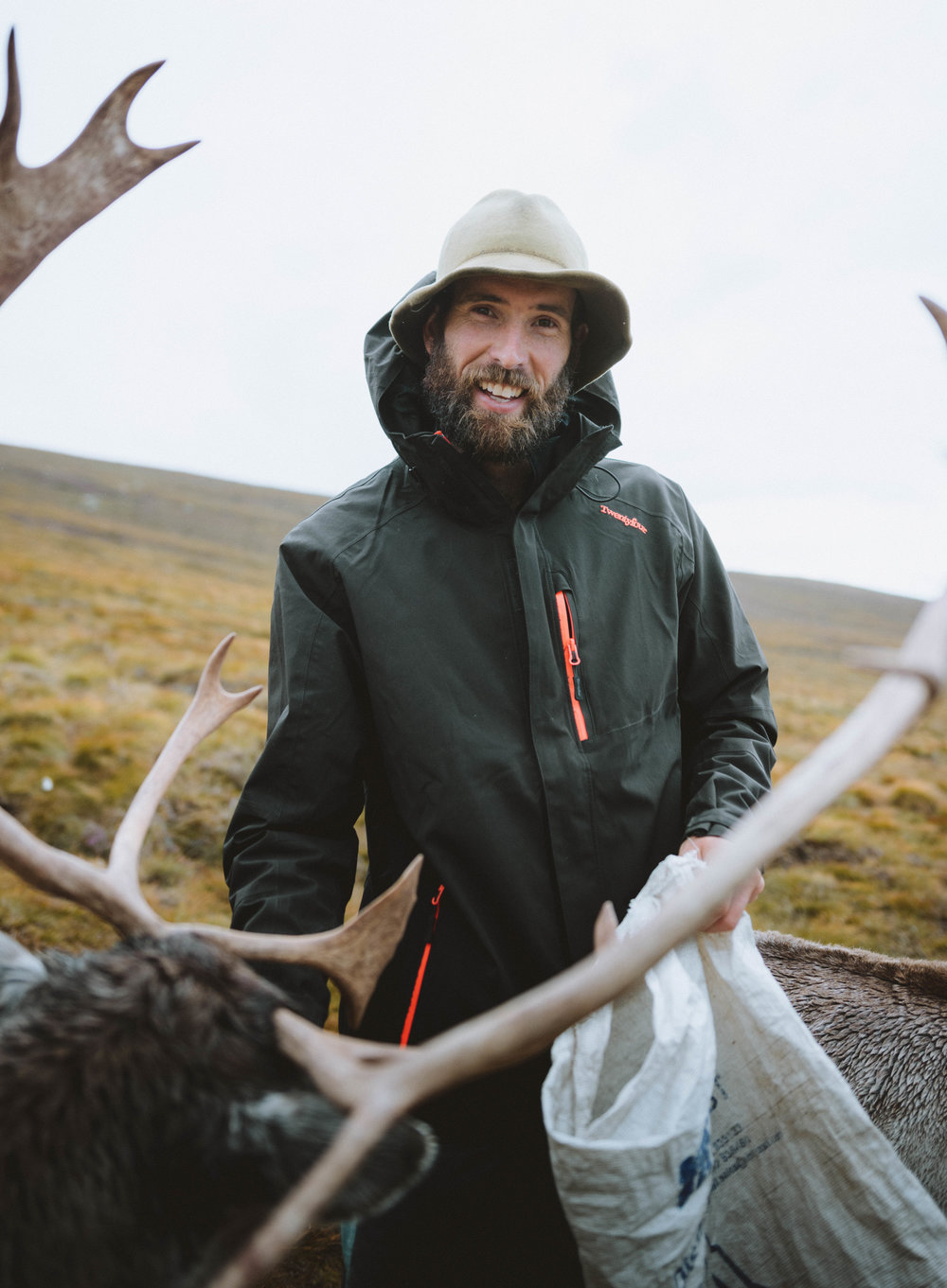 This is Dave our reindeer guide.