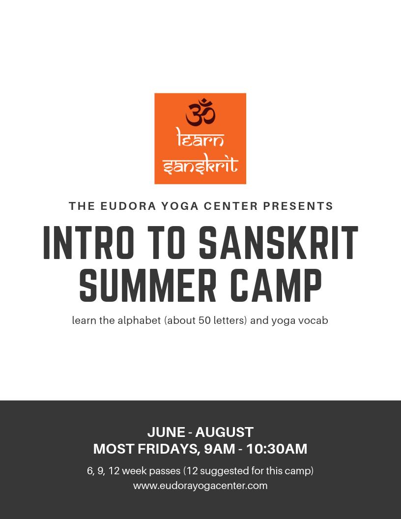 Intro to Sanskrit Summer Camp