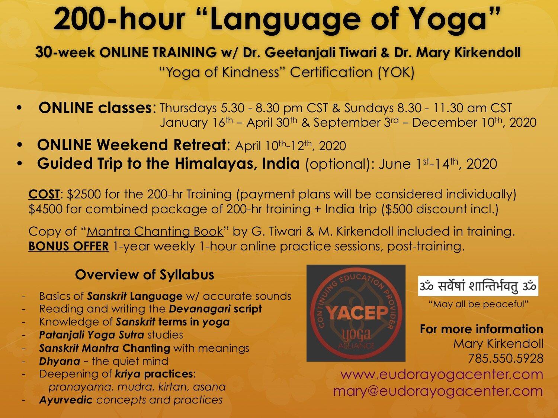 Eudora Yoga Center 200 Hr Language Of Yoga Online Training
