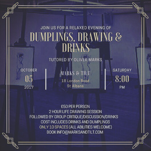 Dumplings, Drawings and Drinks