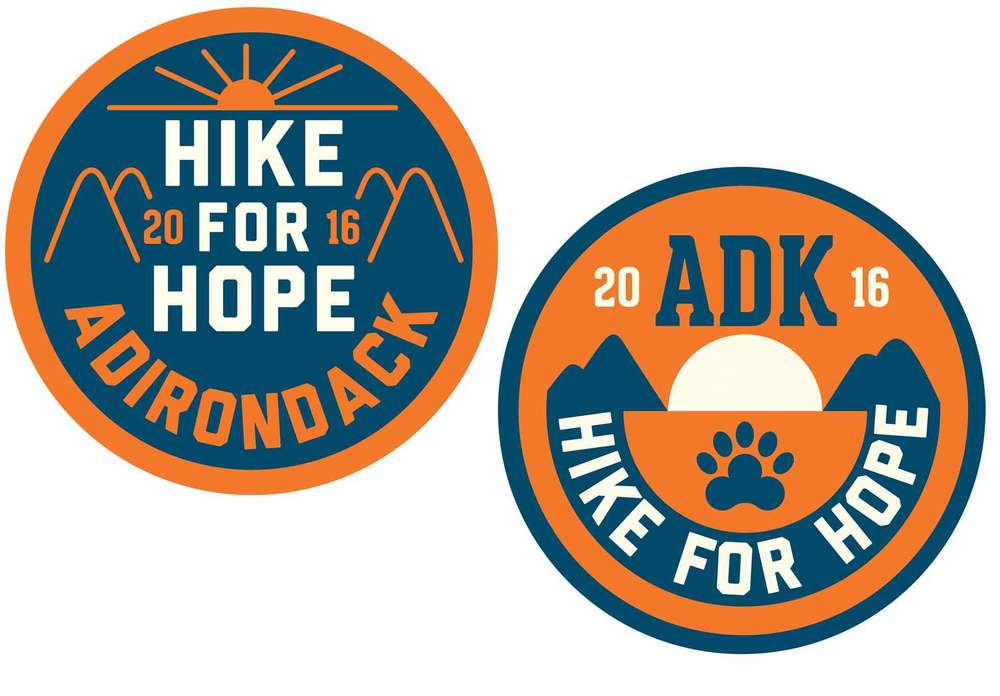 For a $150 donation we will send you the poster by Libby AND one of these cool embroidered patches (we will pick one for you!) designed for ADK Hike for Hope© by artist Justin Poulter. The patches measure 3 inches across. More work by Justin  HERE .
