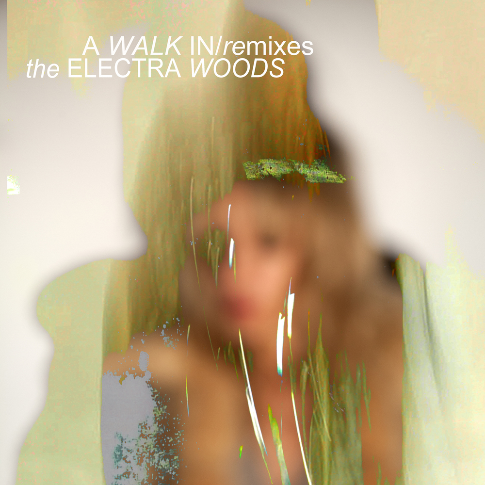 Cover artwork for A WALK IN album REMIXES from The Electra Woods, released on the DRESS label.