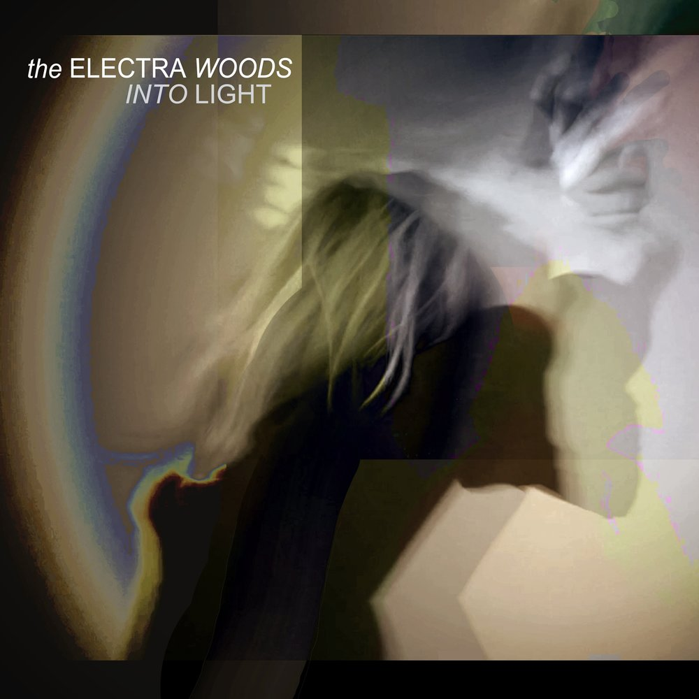 Cover artwork for INTO LIGHT double single with video from The Electra Woods, released on the DRESS label.