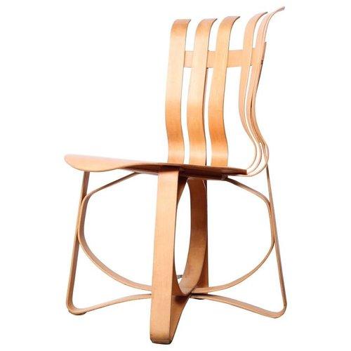 cross check side desk chair by frank gehry sputnik modern