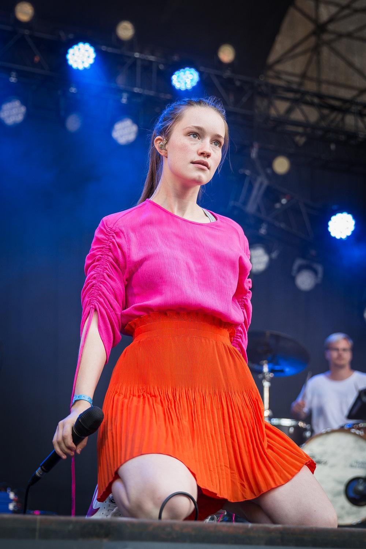 Sigrid live at Øyafestivalen 2017, Oslo.