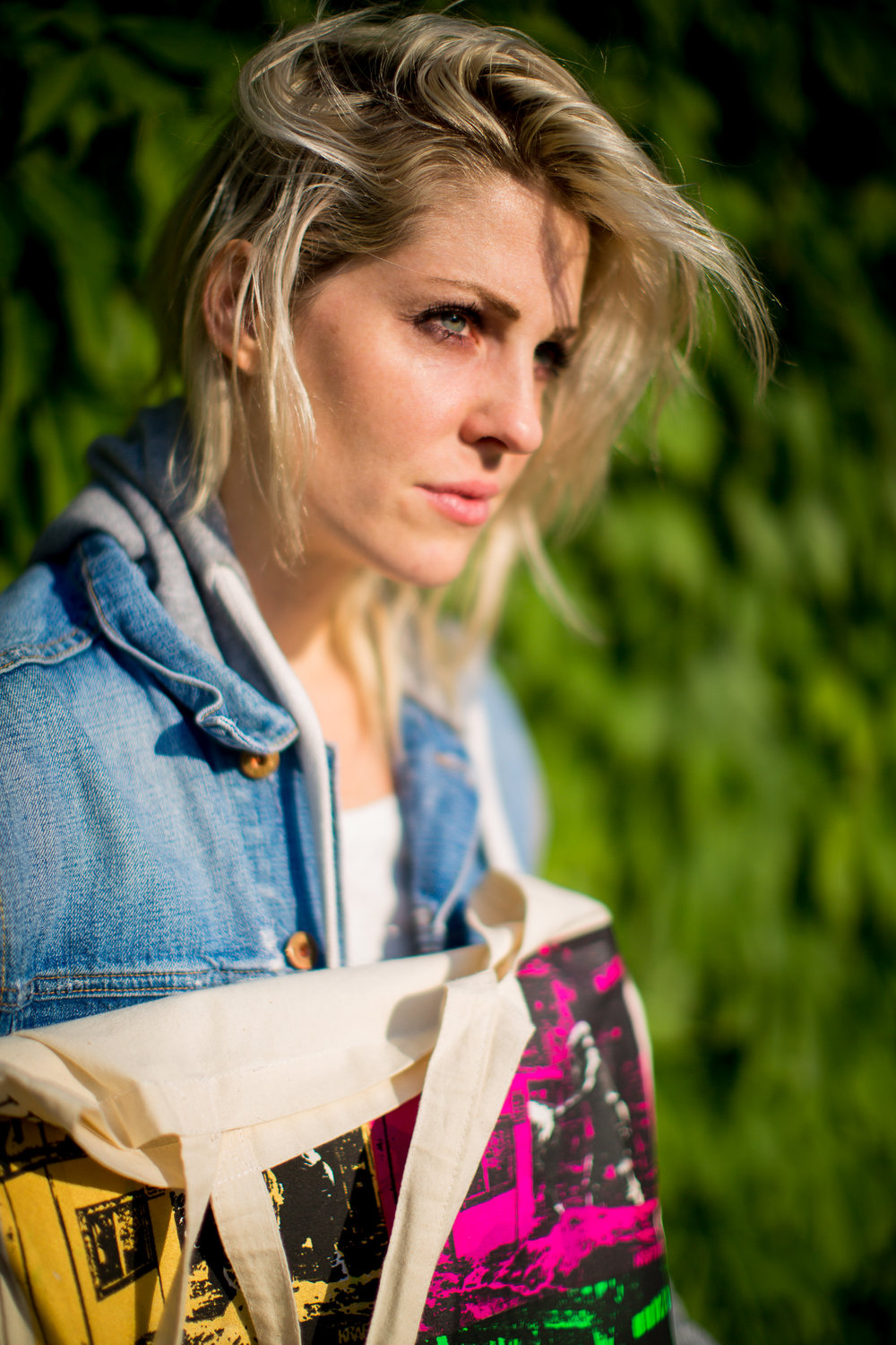 Brody Dalle backstage at Øyafestivalen 2014, Oslo.