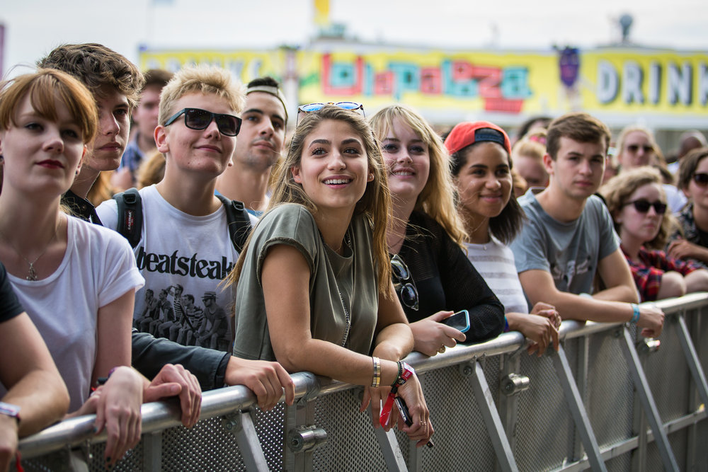 Audience at Lollapalooza Berlin 2015, Berlin.