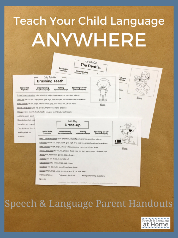 Speech and Language Parent Handouts