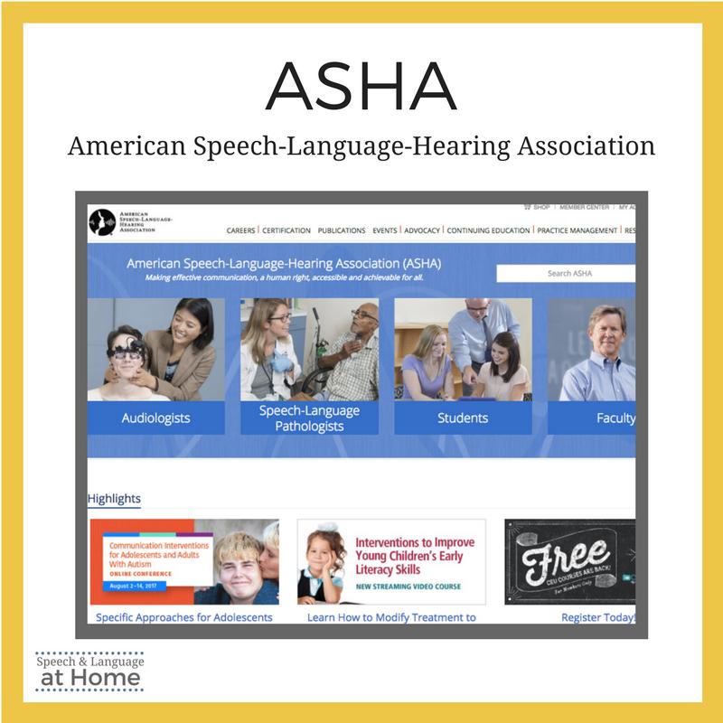 Speech and Language Websites