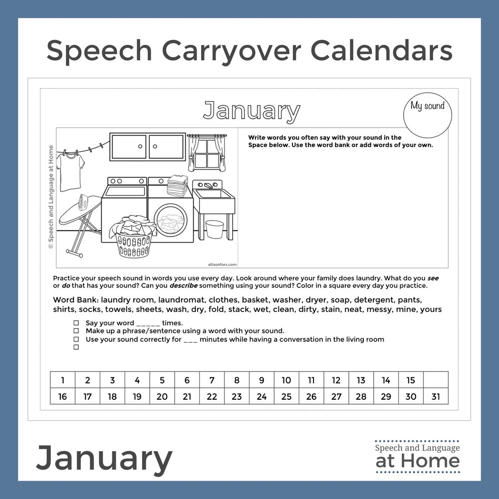 Speech Carryover Calendars Speech and Language at Home January.jpg