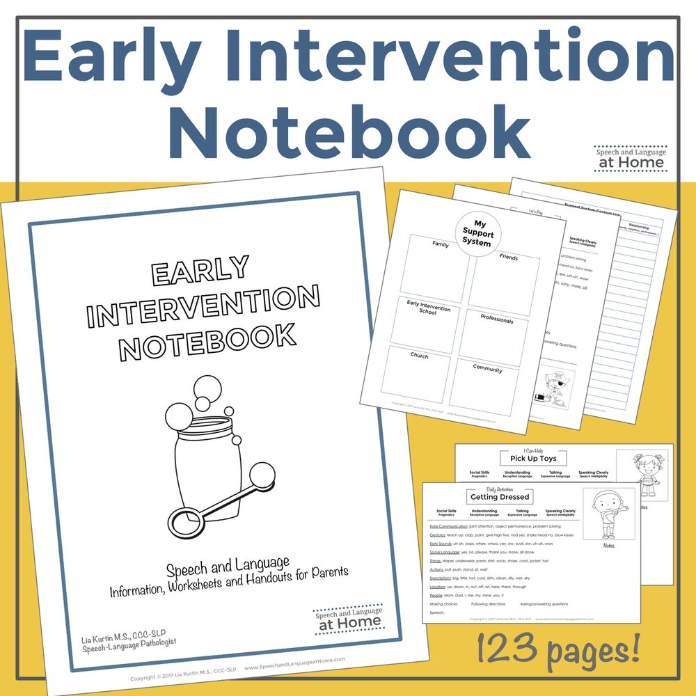 Early Intervention Notebook