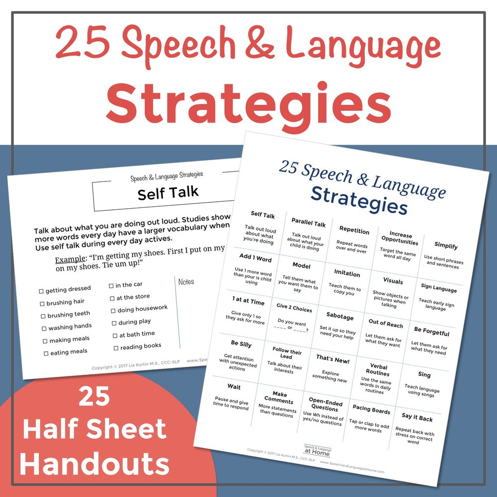 25 Speech and Language Strategies