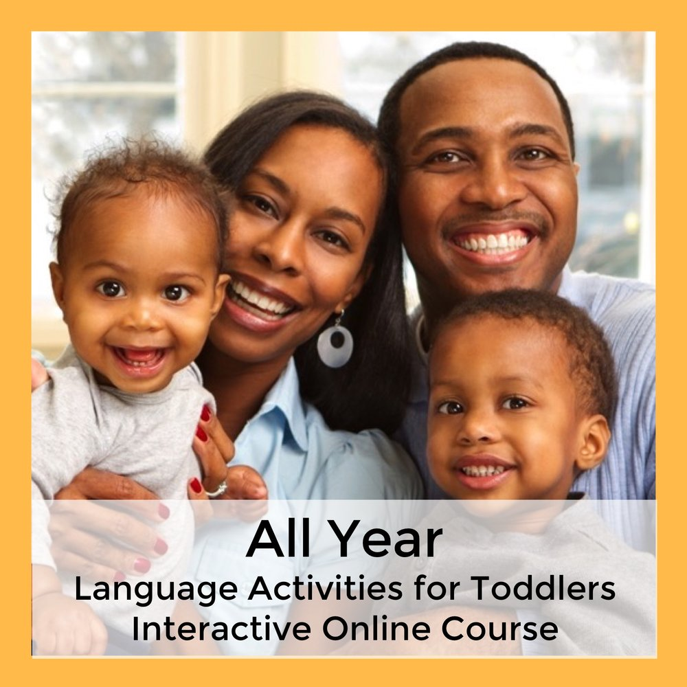 All Year Language Activities for Toddlers Interactive Online Course