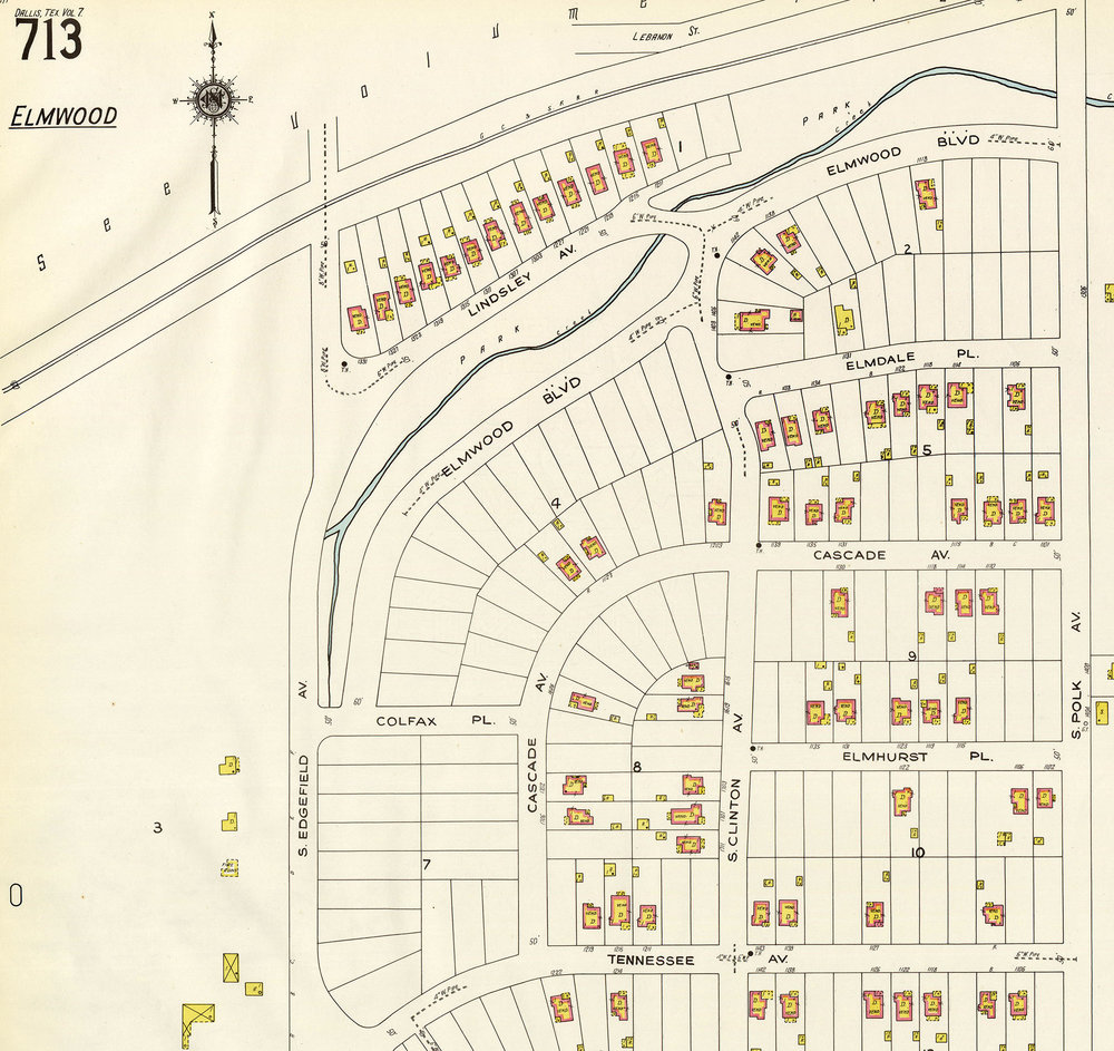 1927 Sanborn Map of Elmwood