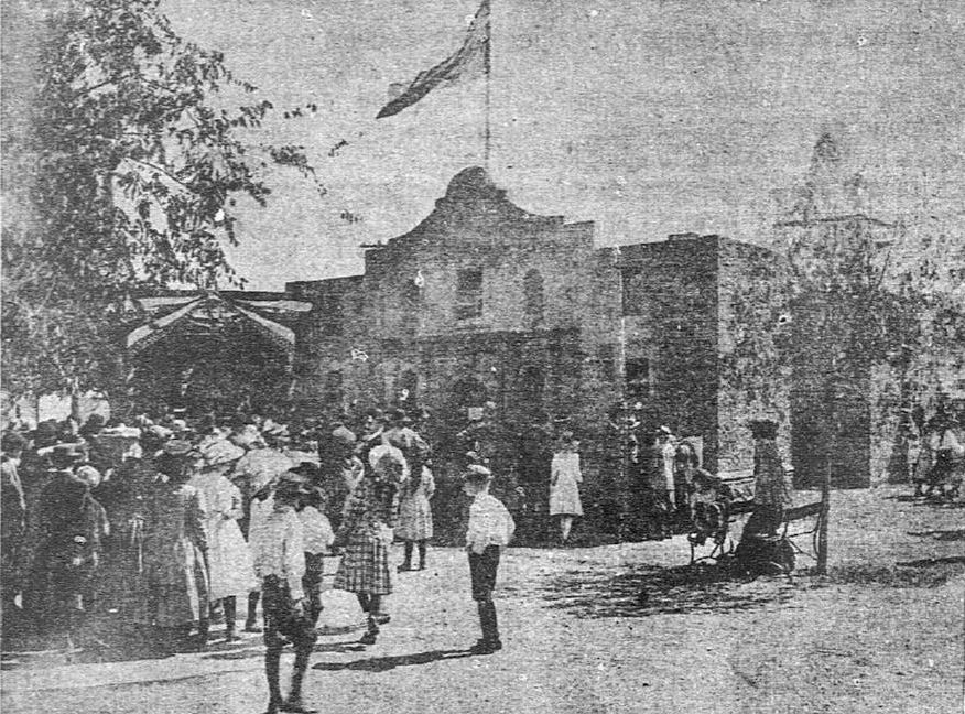 A replica of the Alamo wasn't built until 1909, but 1908 fairgoers might have known it was coming.
