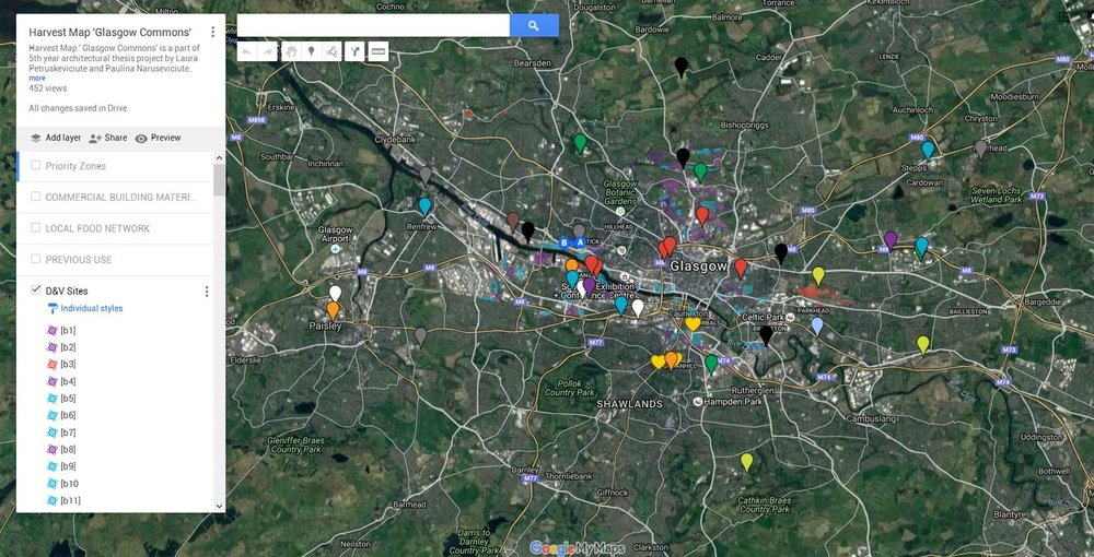 Harvest Map ' Glasgow Commons'