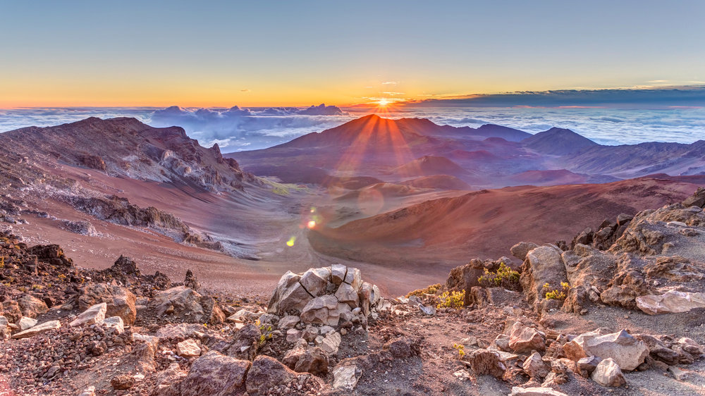 Sunrise Over Haleakala Crater, Maui