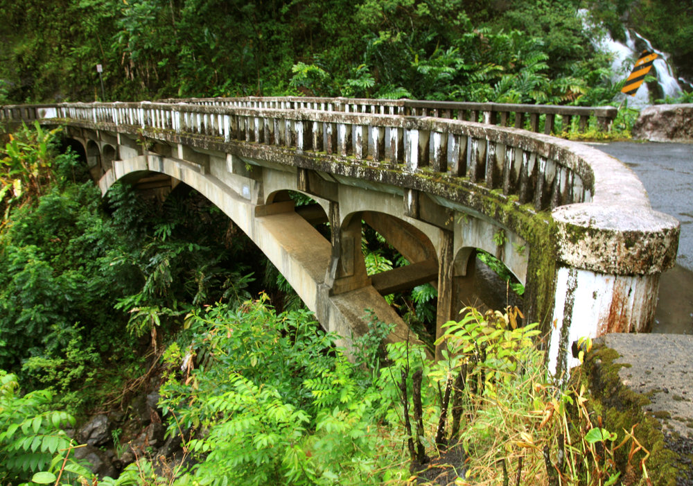 Bridge Over the Road to Hana, Maui