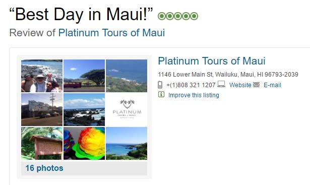 """Best Day in Maui"" ... TripAdvisor Review"