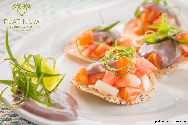 Salmon Dish With Poi