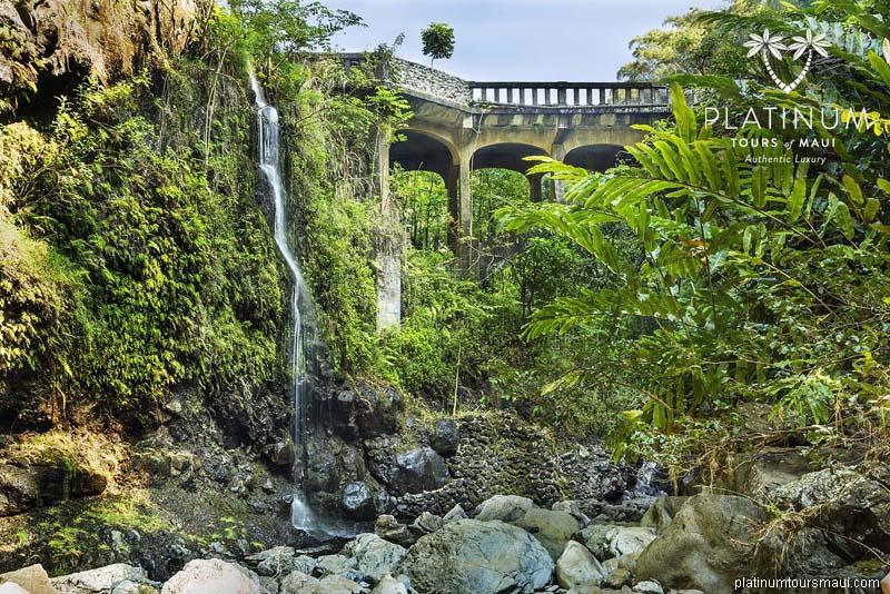 "Upper Waikuni Falls (AKA ""The Three Bears"")"