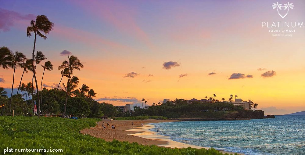 Kāʻanapali Beach at Sunset