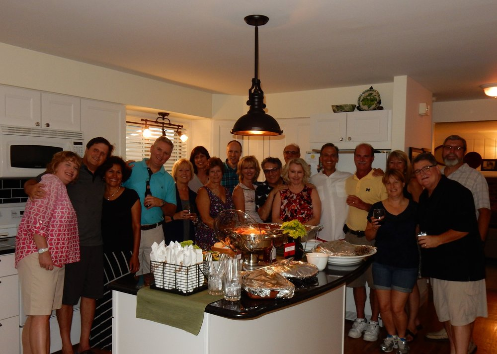 What A Hoot Our Neighborhood Friends Gave Us Bon Voyage Party We Joined Together To Share Inspiration And Support Hosts Opened Their Home For