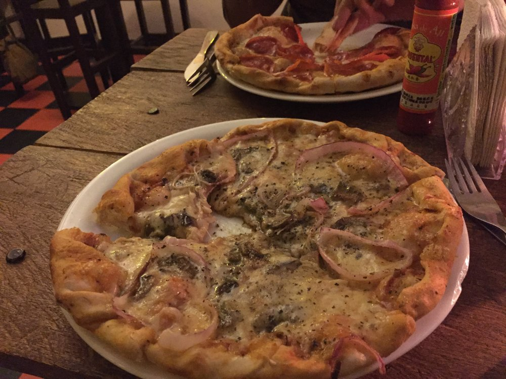 Our first meal in Quito ended up Pizza, we were too tired to walk any any farther