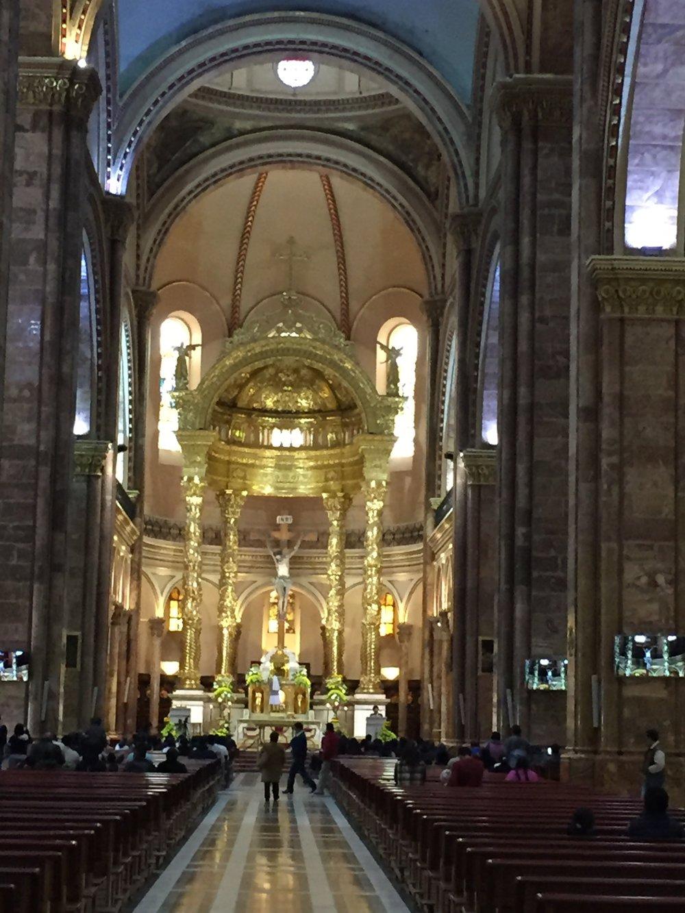 "Inside ""new church"""