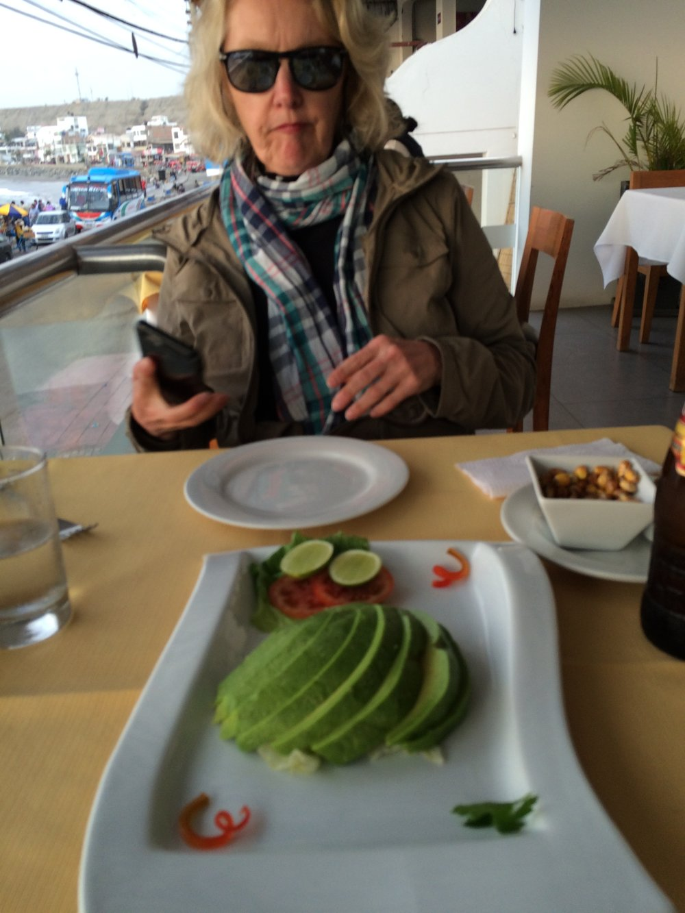 avocado salad in Huanchaco