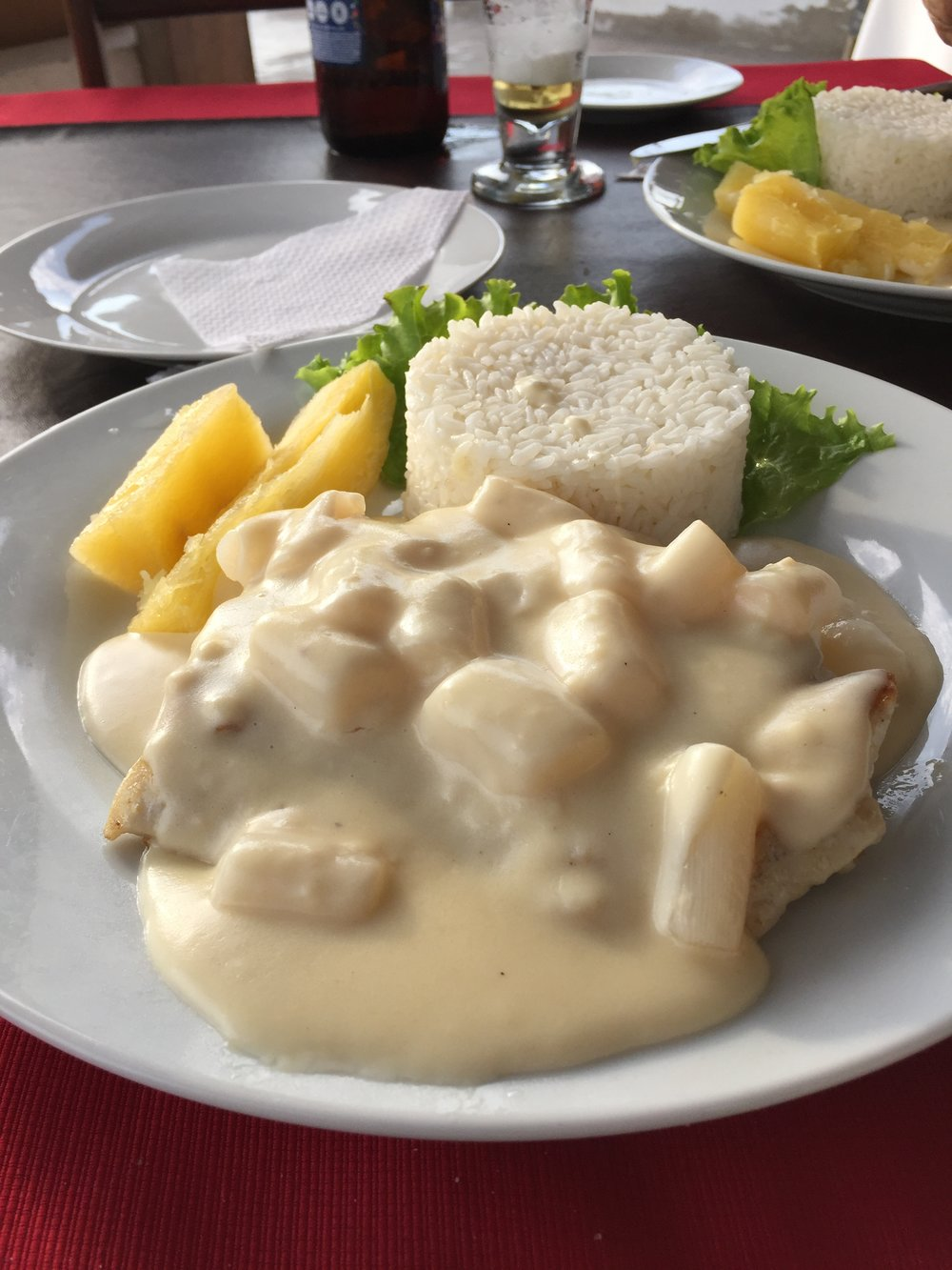 Fish with cream sauce - Huanchaco