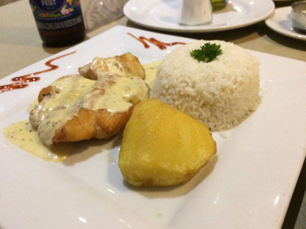 Fish with cream sauce - Trujillo