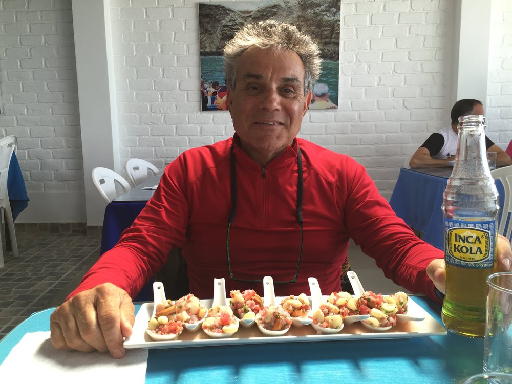 Frank with  Ceviche and INCA GOLD