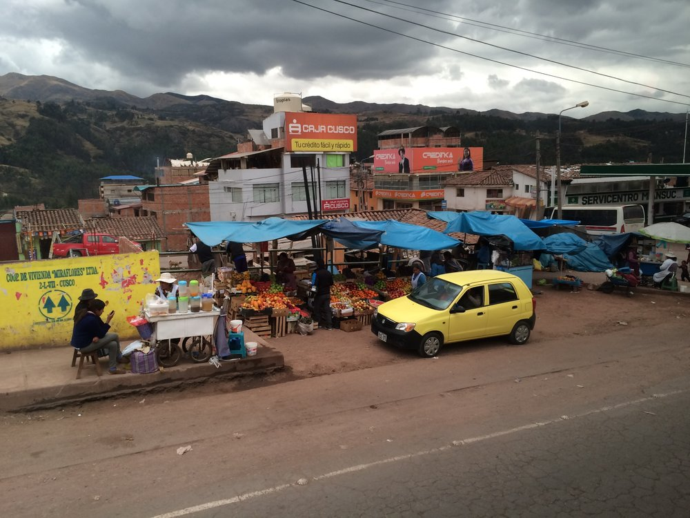 A view from the bus coming into Cusco