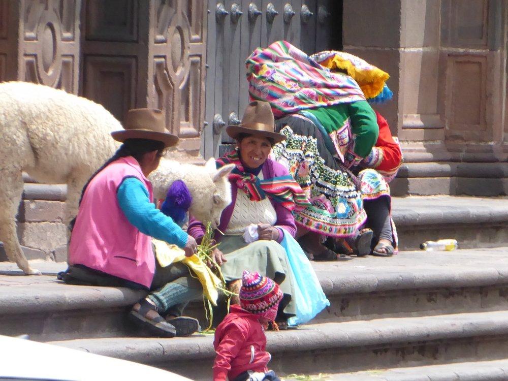 Women selling in street
