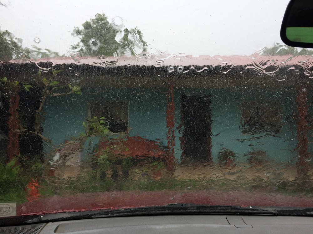 Our home stay in the rain