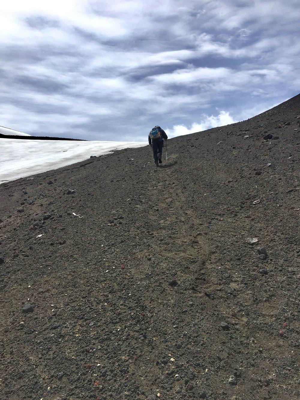 Frank climbing