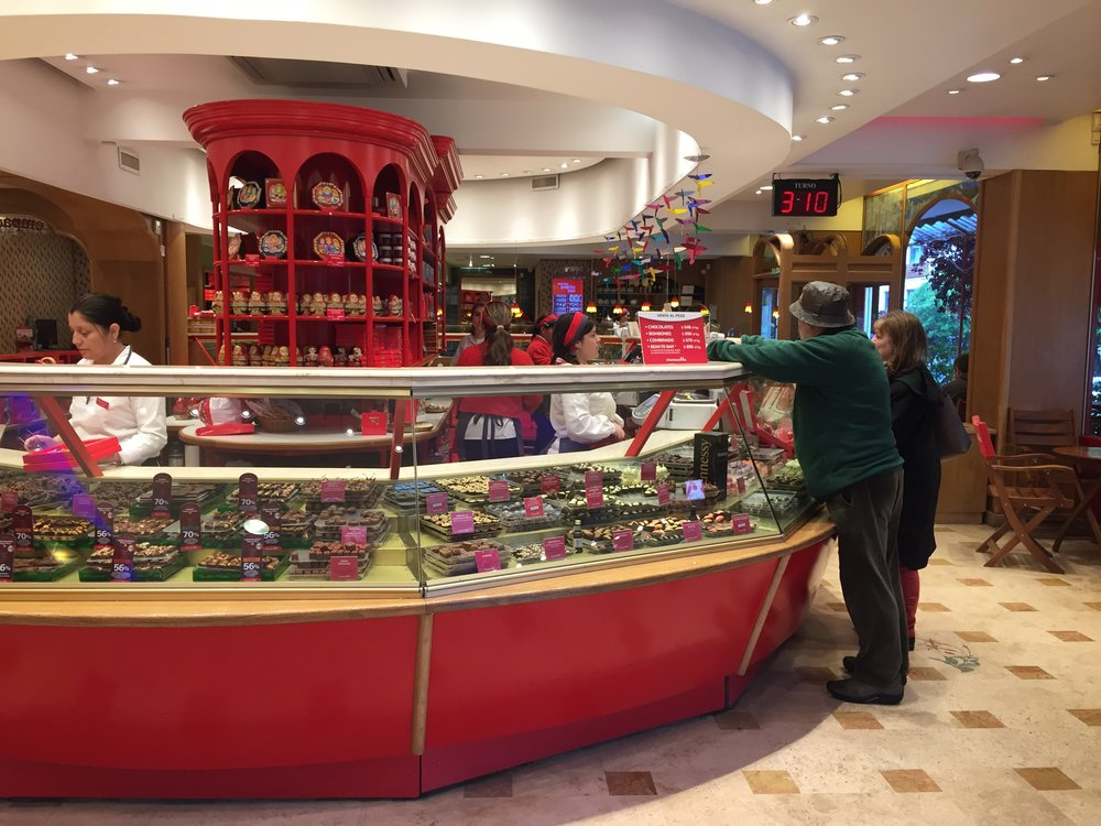 One of the many chocolate shops
